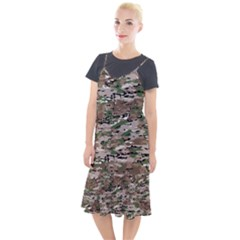 Fabric Camo Protective Camis Fishtail Dress