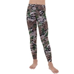 Fabric Camo Protective Kids  Lightweight Velour Leggings