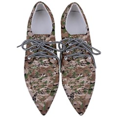 Fabric Camo Protective Women s Pointed Oxford Shoes