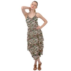 Fabric Camo Protective Layered Bottom Dress