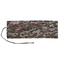 Fabric Camo Protective Roll Up Canvas Pencil Holder (m)