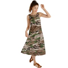 Fabric Camo Protective Summer Maxi Dress