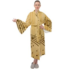 Background Music Nuts Sheet Maxi Velour Kimono