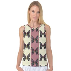 Butterflies Pink Old Old Texture Women s Basketball Tank Top by AnjaniArt