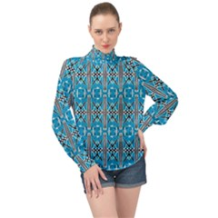 Nr 8 1 High Neck Long Sleeve Chiffon Top by ArtworkByPatrick