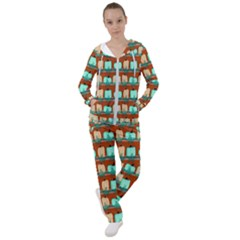 Bluegreen Pumpkins Women s Tracksuit by bloomingvinedesign