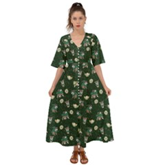 Grass Love Kimono Sleeve Boho Dress by Mezalola