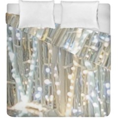 String Of Lights Christmas Festive Party Duvet Cover Double Side (king Size) by yoursparklingshop