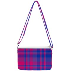Bisexual Plaid Double Gusset Crossbody Bag
