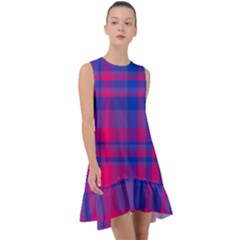 Bisexual Plaid Frill Swing Dress