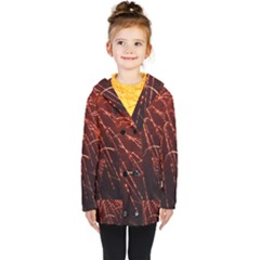 Fireworks Red Orange Yellow Kids  Double Breasted Button Coat by Bajindul