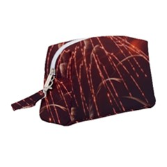 Fireworks Red Orange Yellow Wristlet Pouch Bag (medium)