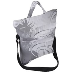 Dance Music Treble Clef Sound Girl Fold Over Handle Tote Bag by Jojostore