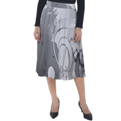Dance Music Treble Clef Sound Girl Classic Velour Midi Skirt