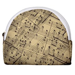 Music Nuts Sheet Horseshoe Style Canvas Pouch by Mariart