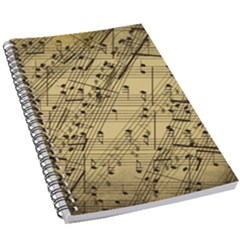 Music Nuts Sheet 5 5  X 8 5  Notebook by Mariart