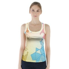 Background Pastel Geometric Lines Racer Back Sports Top by Alisyart