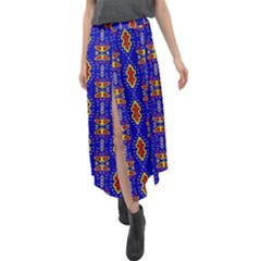 Nr 16 1 Velour Split Maxi Skirt by ArtworkByPatrick