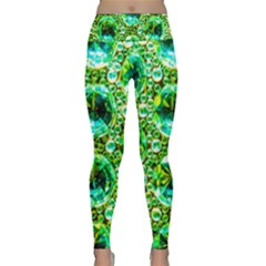 Cut Glass Beads Lightweight Velour Classic Yoga Leggings by essentialimage