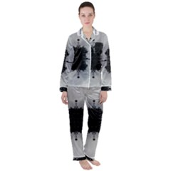 Cloud Island With A Horizon So Clear Satin Long Sleeve Pyjamas Set by pepitasart