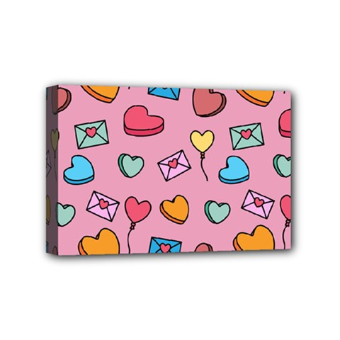 Candy Pattern Mini Canvas 6  X 4  (stretched) by Sobalvarro