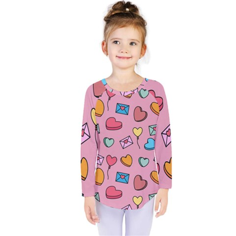 Candy Pattern Kids  Long Sleeve Tee by Sobalvarro