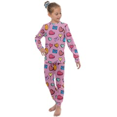 Candy Pattern Kids  Long Sleeve Set  by Sobalvarro