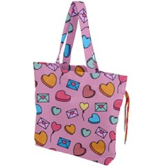 Candy Pattern Drawstring Tote Bag by Sobalvarro