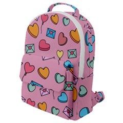 Candy Pattern Flap Pocket Backpack (small) by Sobalvarro