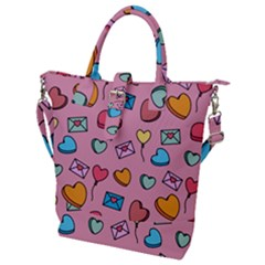 Candy Pattern Buckle Top Tote Bag by Sobalvarro