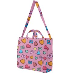 Candy Pattern Square Shoulder Tote Bag by Sobalvarro