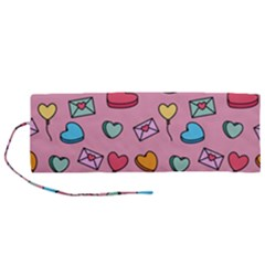 Candy Pattern Roll Up Canvas Pencil Holder (m) by Sobalvarro