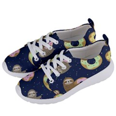 Cute Sloth With Sweet Doughnuts Women s Lightweight Sports Shoes by Sobalvarro