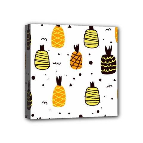 Pineapples Mini Canvas 4  X 4  (stretched) by Sobalvarro