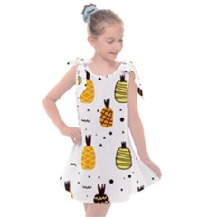 Pineapples Kids  Tie Up Tunic Dress by Sobalvarro