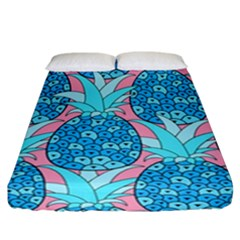 Pineapples Fitted Sheet (california King Size) by Sobalvarro