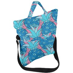 Pineapples Fold Over Handle Tote Bag by Sobalvarro