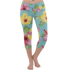 Hibiscus Capri Yoga Leggings by Sobalvarro