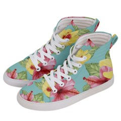 Hibiscus Women s Hi-top Skate Sneakers by Sobalvarro