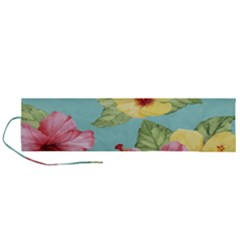 Hibiscus Roll Up Canvas Pencil Holder (l) by Sobalvarro