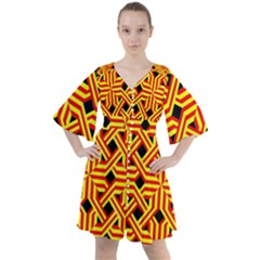 Rby 68 Boho Button Up Dress