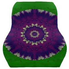 Mandala In Leaves,on Beautiful Leaves In Bohemian Style Car Seat Back Cushion  by pepitasart
