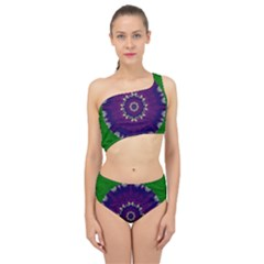 Mandala In Leaves,on Beautiful Leaves In Bohemian Style Spliced Up Two Piece Swimsuit by pepitasart