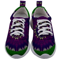 Mandala In Leaves,on Beautiful Leaves In Bohemian Style Kids Athletic Shoes by pepitasart