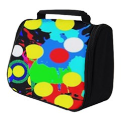 Spots 2222 Black Full Print Travel Pouch (small)