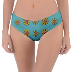Fantasy Fauna Floral In Sweet Green Reversible Classic Bikini Bottoms by pepitasart