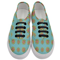 Fantasy Fauna Floral In Sweet Green Women s Classic Low Top Sneakers