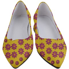 Fantasy Fauna Floral In Sweet Yellow Women s Block Heels