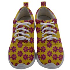 Fantasy Fauna Floral In Sweet Yellow Mens Athletic Shoes by pepitasart