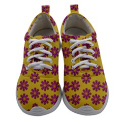 Fantasy Fauna Floral In Sweet Yellow Women Athletic Shoes by pepitasart